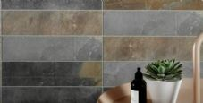 Vitra Slate Mix Multicolour Porcelain wall/floor tile 300 x 75 x 1m2